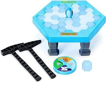 FUNTOK Puzzle Pinguino, Juegos de Mesa de Rompecabezas Cubos de Hielo de Equilibrio Guardar Pinguino ROM pehielos Golpear Interactivo Juegos: Amazon.es: Juguetes y juegos