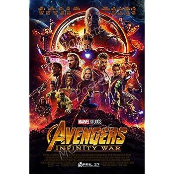 Amazon Com The Avengers Infinity War Movie Poster 2018 Sci Fi