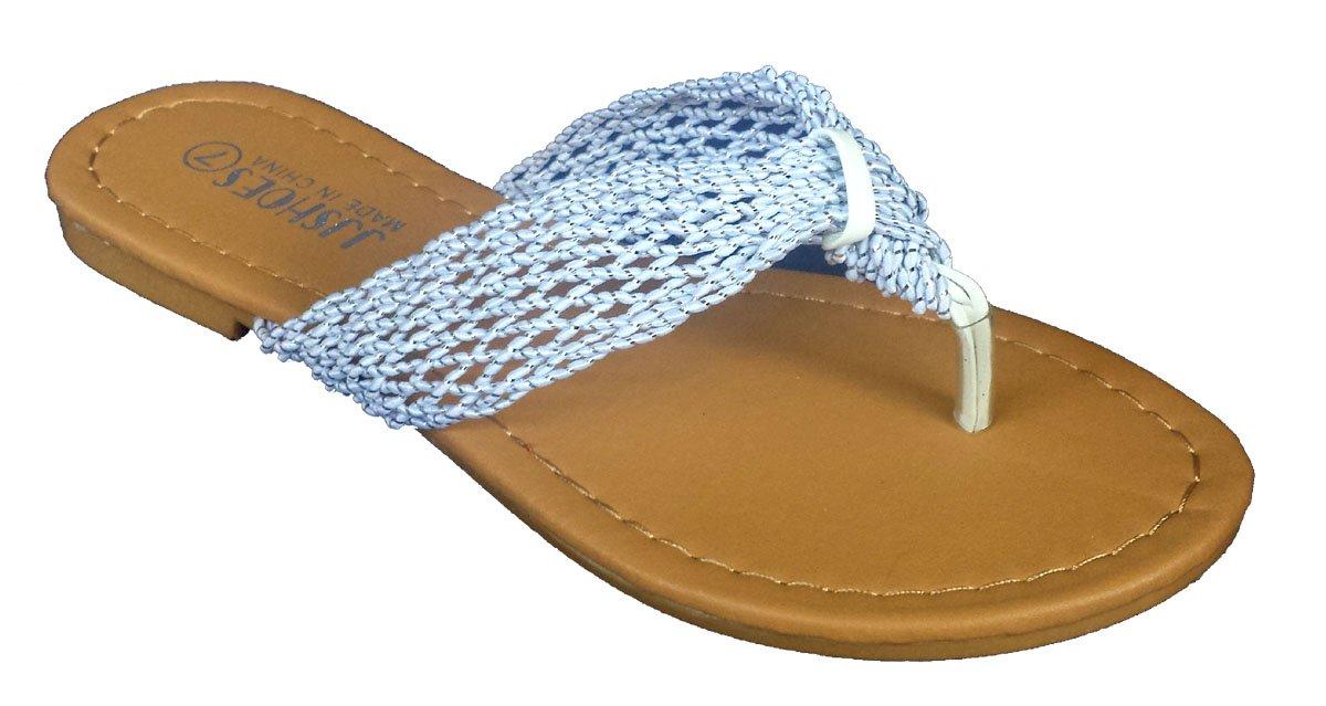 Elegant Women's Fashion Casual White Flat Sandals White 7, M US