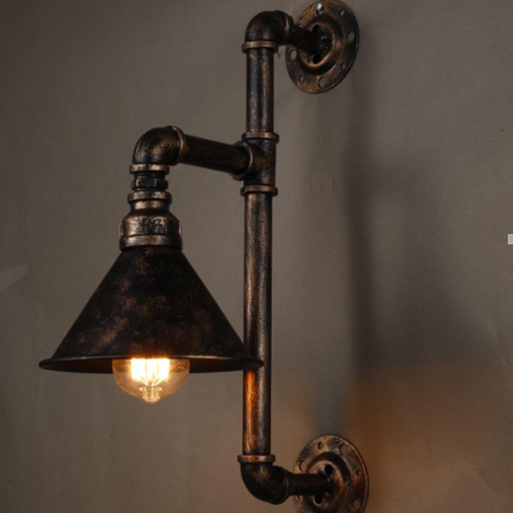 Aplique de pared de tubo de agua, SUN RUN Lámpara de pared industrial de metal Vintage con estilo retro para barra, cocina, sala de estar y dormitorio, lámpara de socket E26 [Clase de eficiencia energética A+]