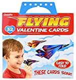 Kangaroo's Flying Paper Airplanes; (32-Count) Valentine's Day Cards For Kids