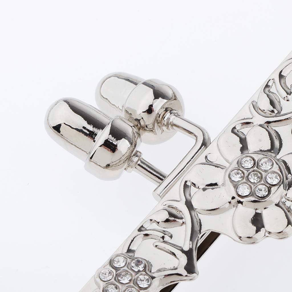 chiwanji Telaio Portamonete in Metallo con Chiusura Bacio con Maniglia per Accessori Borsa Fai-da-Te Golden Light 18 Centimetri