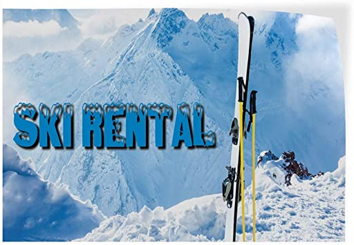 Decal Sticker Multiple Sizes Skate Rental Sports Skate Rental Outdoor Store Sign White 52inx34in Set of 2