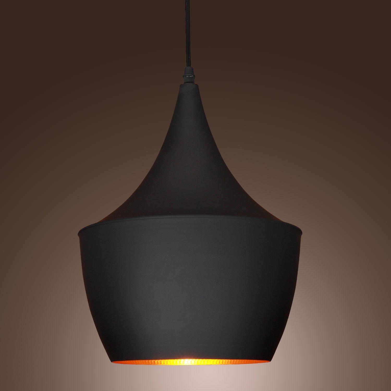 60W Pendant Light in Black Shade Modern/Comtemporary Pendant Light Fit for Li... by LightInTheBox
