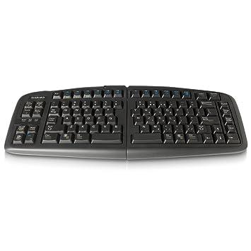 Goldtouch RG0GTGTU-0088 - Teclado QWERTY V2 ajustable para PC - Mac, negro