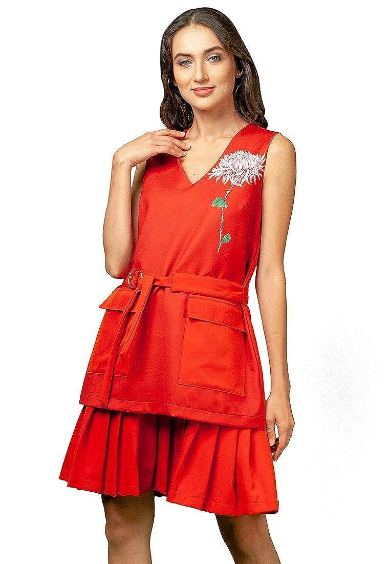 Multi Plains and Prints Womens Fenton Sleeveless Dress