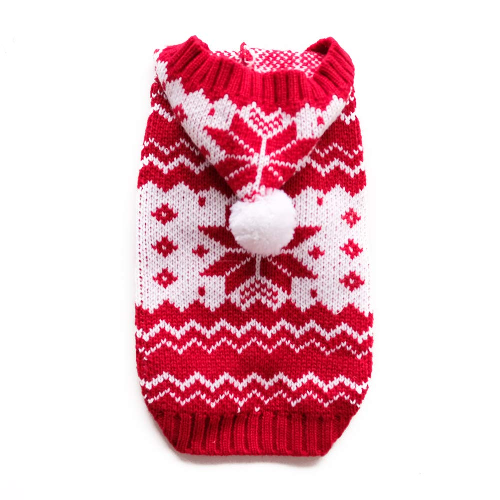 Red XL Red XL InnoPet Christmas Dog Hoodie Costume, Small Dog Clothes Santa Claus Costume Outfits Sweater Dog Coat Warm Sweatshirt Winter Jacket Dog Apparel for Cold Weather