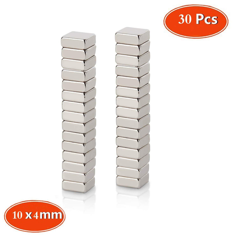 Neodym Magnet, Mini Magnete, quadratisch N48 Stärke 30 Stück 10x 10 x 4 mm ffür Kühlschrank und Magnettafeln, Magnete für Magnettafeln, Magnete für Glasmagnettafel TAOHUIEU CMIBJCK003581