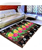 "Warmland Floral Velvet Carpet - 60""x84"", Multicolour"