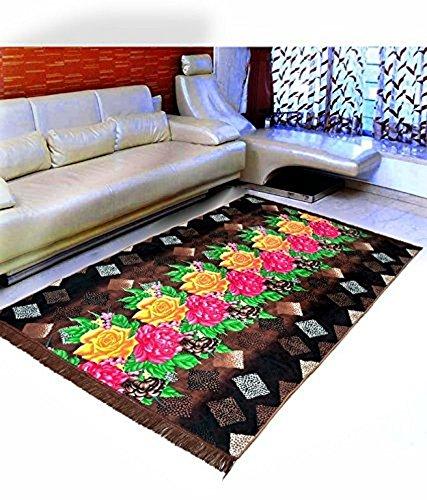 Warmland  Floral Velvet Carpet – 60″x84″