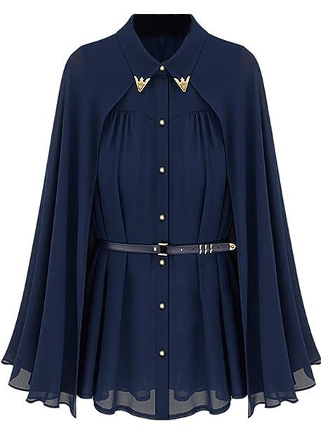 Shein Camisas - Para Mujer Azul Azul Medium