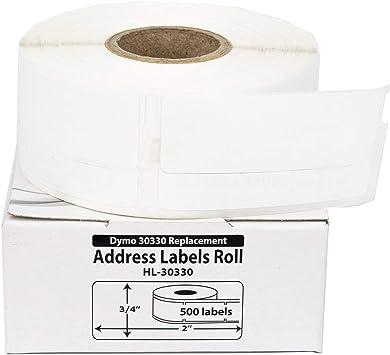 9 Rolls RETURN ADDRESS BARCODE LABEL fit DYMO 30330 BPA Free