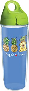 Tervis Puppie Love Insulated Tumbler, 24oz Water Bottle - Tritan, Pineapple Disguise