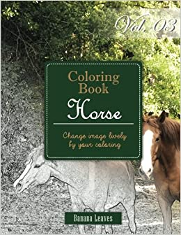 Horse Collection : Gray Scale Photo Adult Coloring Book, Mind Relaxation Stress Relief Coloring Book Vol3: Series of coloring book for adults and ... x 27.94 cm) (Adults Coloring Book) (Volume 3)