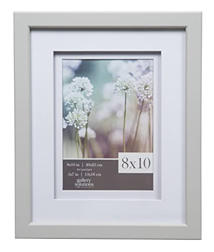 Amazon.com - Gallery Solutions 8x10 Light Grey Wood Frame with ...