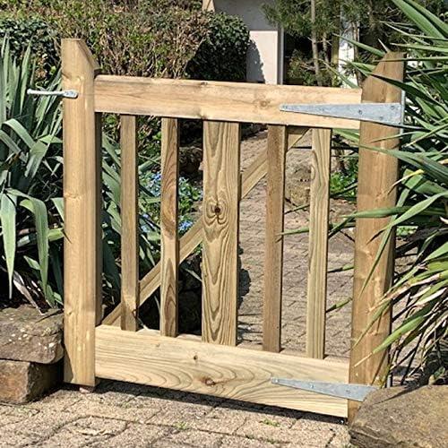 Gartentor aus Holz 90 cm Breit robustes Holztor aus Kiefernholz kesseldruckimpr/ägniert Aufh/ängung und Verschluss inkl