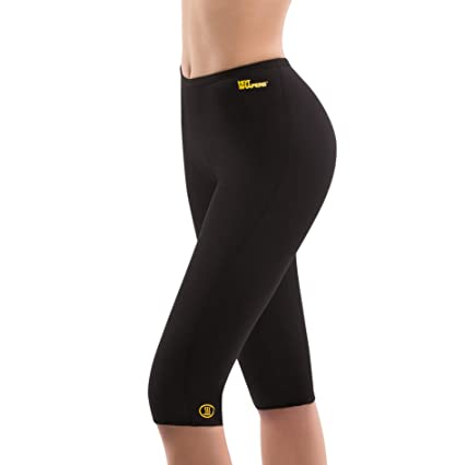 62f76495c1 Hot Shapers Capri Pants – Women s Thermal Exercise Compression Leggings