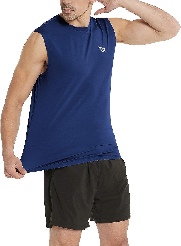BALEAF Men's Sleeveless Shirts Muscle Performance Workout Gym Running Tech Tank Top