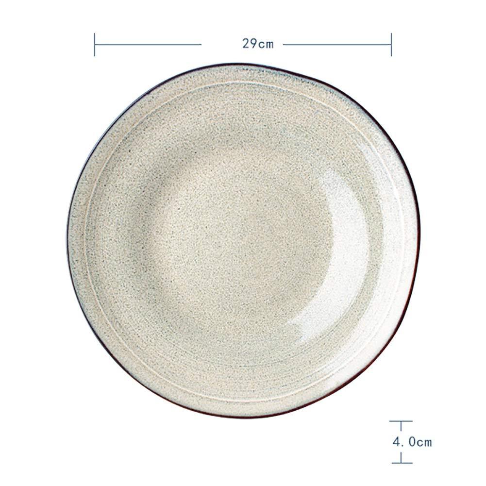 FGSLW サラダプレート、ヨーロッパのクリエイティブラウンドセラミック皿、西洋パスタプレート、ホームディッシュトレイ、フルーツプレート、デザートプレート(直径29cm) (色 : B, サイズ さいず : Set of 6) B07G5H2XCP Parent B Set of 6