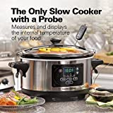 Hamilton Beach (33969A) Slow Cooker, Programmable, 6 Quart With Temperature Probe, Sealing Lid and Transport Clips