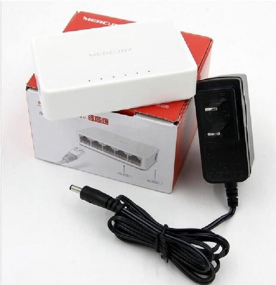 MERCURY Mini S105C 5 Port RJ45 10//100Mbps Network Switch Desktop Switch