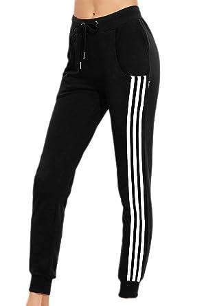 Pantalon Avec Taille Femme Cordon Élastique Jogging De Serrage rwF7fqr