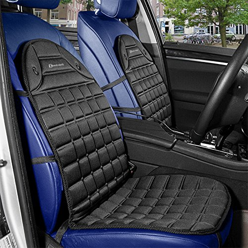 Amazon.com: Zento Deals 2pc. Black Heated Car Seat Cushion with 1 ...