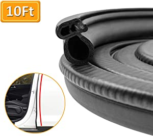 VUAOHIY Door Rubber Seal Strip Trim Seal with Side Bulb for Cars,Trucks, Boats, RVs and Home Applications, Car Door Weather Striping (10Ft)