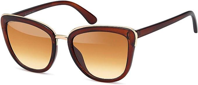 ojos de gato styleBREAKER gafas de sol con forma de ojos de gato forma de mariposa con montura de metal y pl/ástico se/ñora 09020078