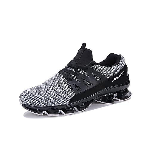 New Zapatillas de Deporte de Malla de los Hombres 2018 Zapatos de Primavera/Otoño de la Manera de Punto de Moda Low Top Amantes Cómodos Zapatos Deportivos ...