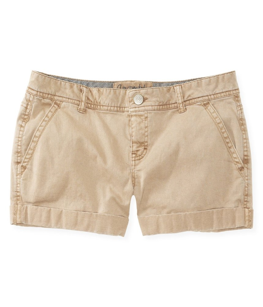 Aeropostale Womens Midi Twill Casual Denim Shorts Brown 000 - Juniors