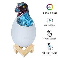 Deals on GLAKCO 3D Night Light,3 Colors 3D Dinosaur Night Light