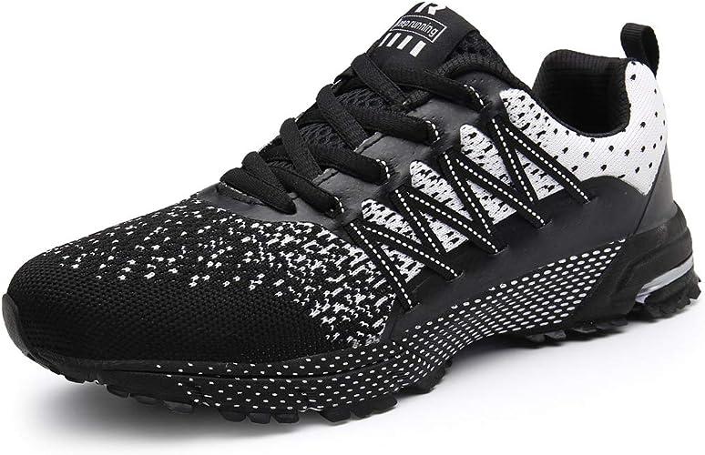 Homme Femme Chaussures de Course Sport Fitness Sneakers Air Baskets Chaussures de Running sur Route Outdoor Casual