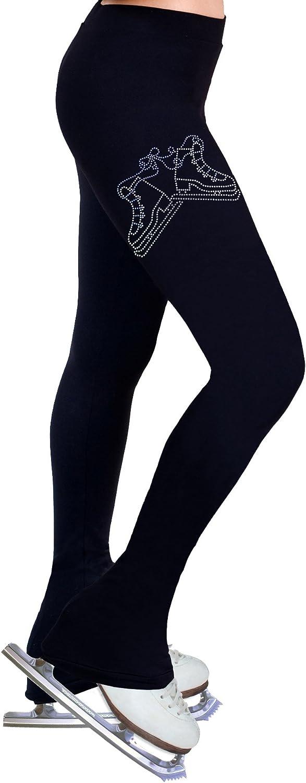 Figure Skating Practice Pants with Rhinestones – pr223 ライトパープル Child Medium