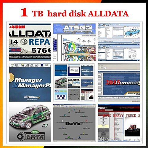 Price comparison product image 2017 New 16in1 AllData Auto Repair Diagnostics Software..+ 1TB Toshiba HardDrive