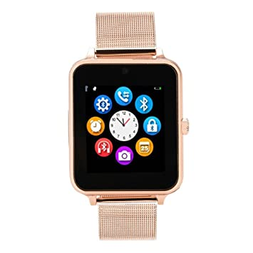 Amazon.com: SUKEQ Z60 Smart Watch, Bluetooth Smartwatch Hands-free Calls Sleep Monitoring Pedometer Remote Camera Music Player Wristwatch (Rose Gold): Cell ...
