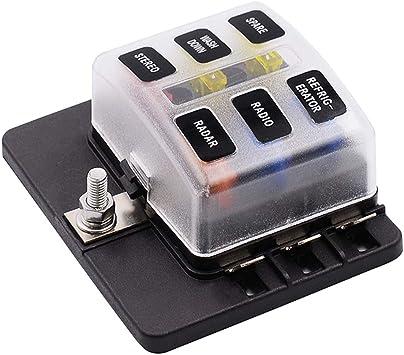 Vosarea Modificación del Coche Base de Caja de fusibles de 6 vías ...