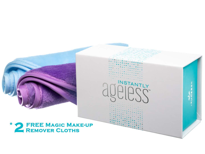 Jeunesse Instantly Ageless 25 Vials W/FREE Makeup Remover Cloths | Instantly Ageless 25 Vial Box Set with 2 FREE Makeup Eraser Cloths