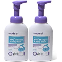 Organic Baby Wash and Shampoo Foaming by MADE OF - For Sensitive Skin and Baby Eczema Wash - NSF Organic and EWG - Made…