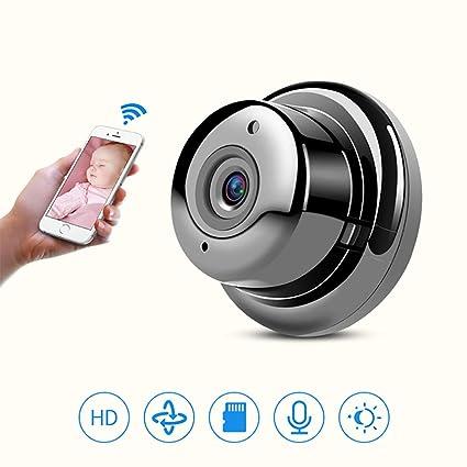 Mini Espía Oculta Cámara, Wireless Wifi Portable Survelliance Smart Camera, Cámaras IP Con Visión