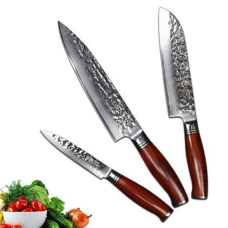 Compra YARENH Juego de Cuchillos de Cocina 3 Piezas - - Set ...