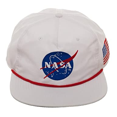 363c9bbcaf9 SAN NASA USA Patch 5 Panel Slouch Snapback White One Size at Amazon ...