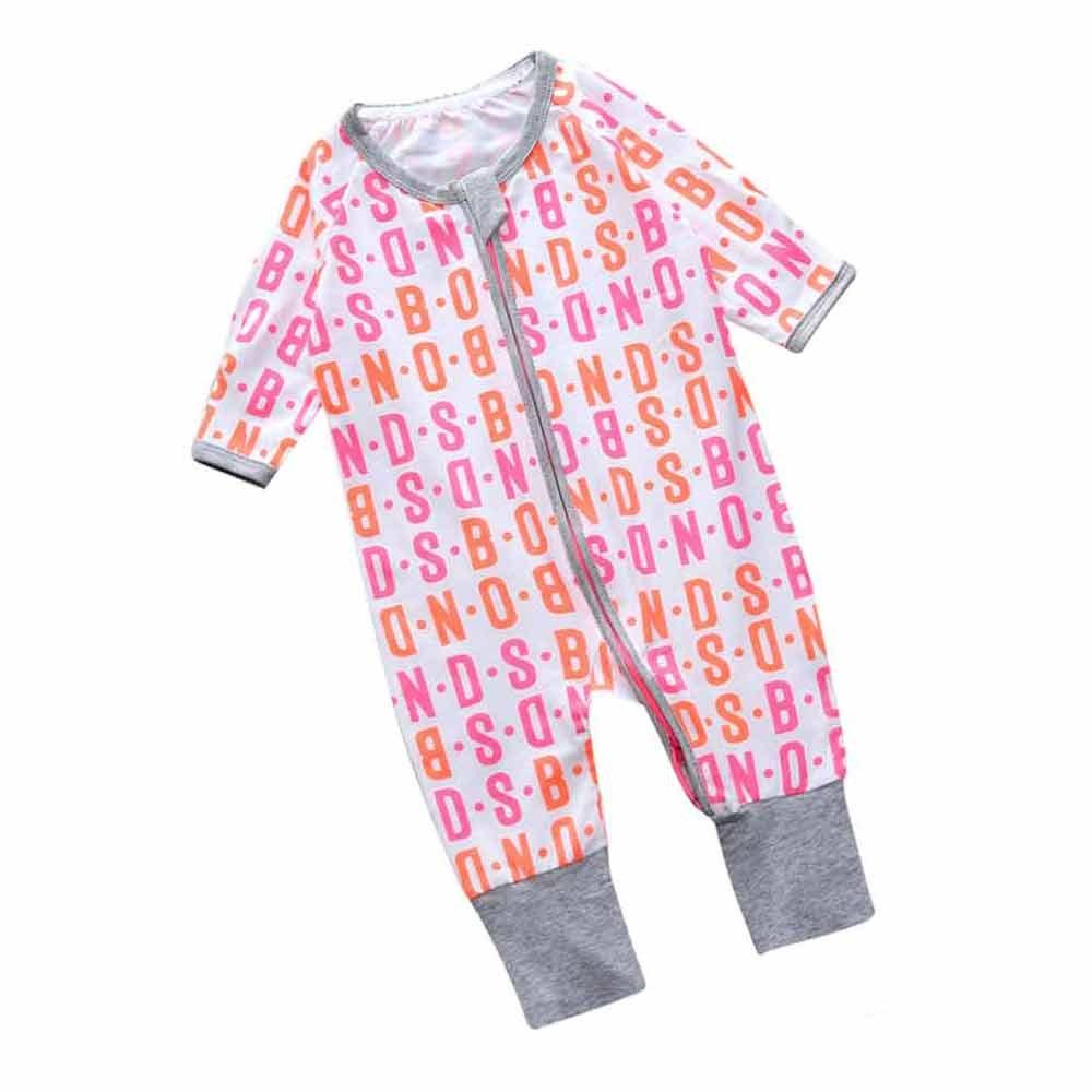 Mary ye Unisex Babys Zipper Footed Sleeper Pajamas Long Sleeved