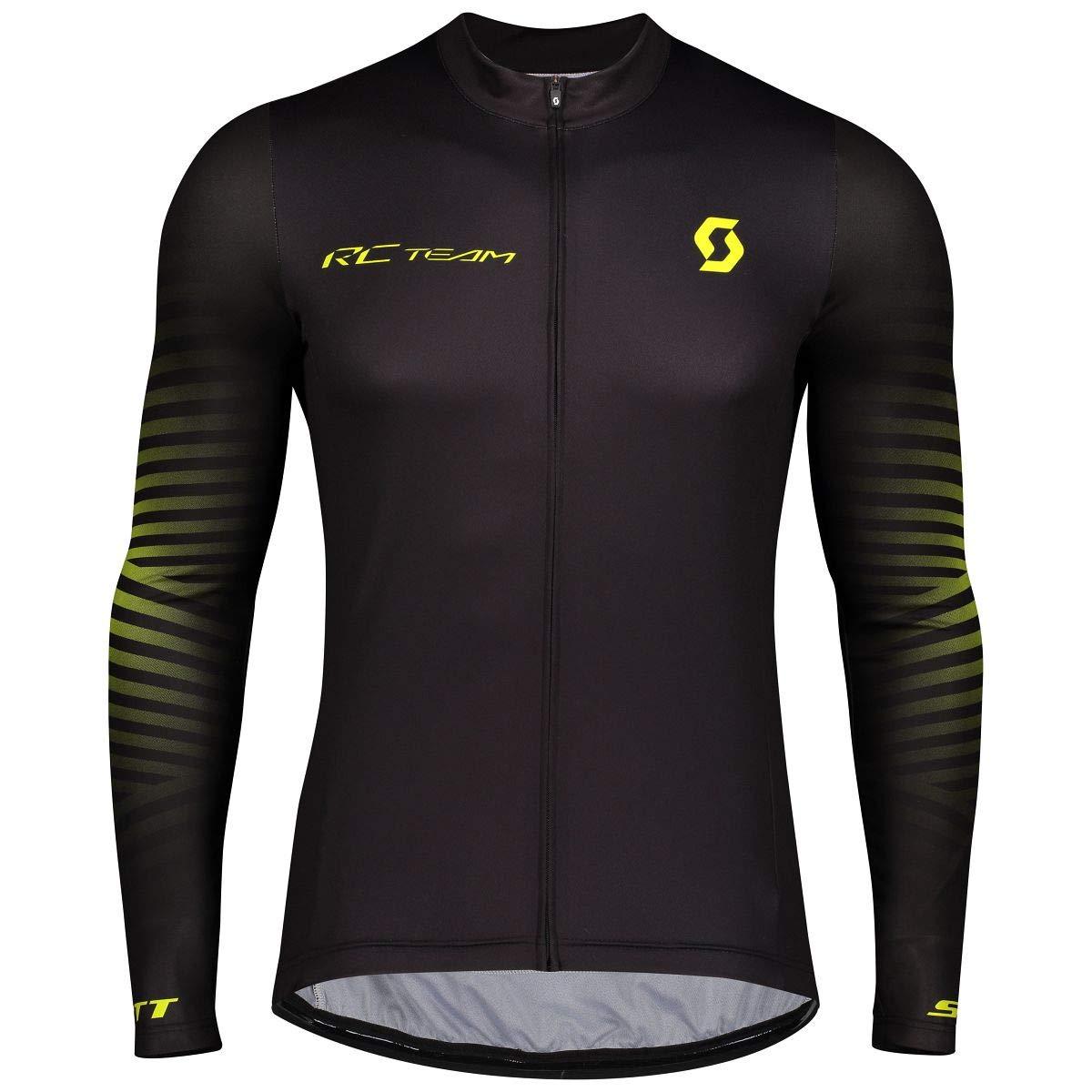 Scott RC Team 10 Fahrrad Trikot lang schwarz//gelb 2020