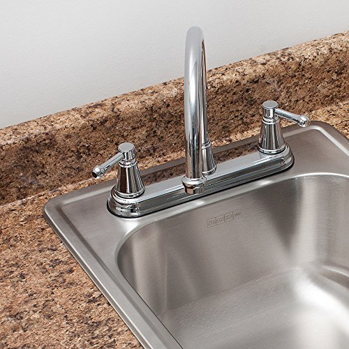 "Kindred FSB1722BX 8"" Deep Stainless Steel Single Bowl Top-mount Bar Sink, 20 g good"