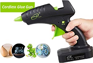 """Cordless Glue Gun 60W 12V Rechargeable Electric Heating Tool with Lithium Battery 2000mAh for DIY Arts Craft 0.43""""(11mm) Glue Sticks, Full Size Hot Glue Gun"""