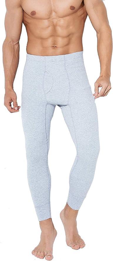 TEERFU - Pantalones térmicos de algodón para hombre, de peso medio ...