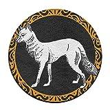 KJDS Anti Skidding Wild Animal Fox Round Floor Cushion Pad Slipcover 16 Inch