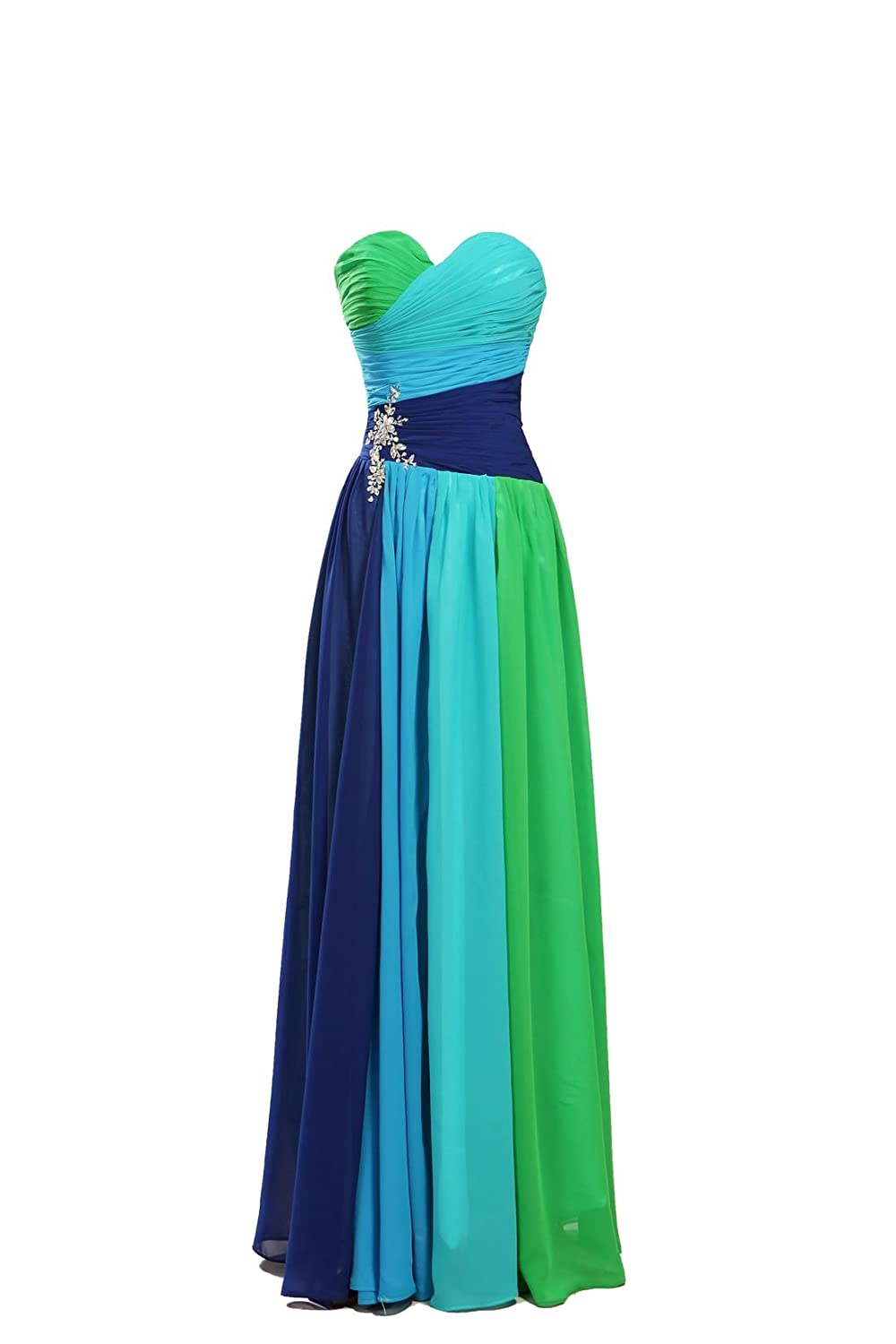 Amazon.com: MISSYDRESS Women\'s Colorful Sweetheart Floor-length ...
