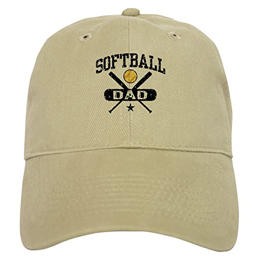 Amazon.com  CafePress - Softball Dad Cap - Baseball Cap with Adjustable  Closure 56ce710916ee
